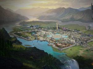 《完美世界2》壁纸:白帝城全景
