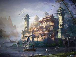 《完美世界2》壁纸:青帝之都